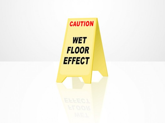 Wet floor effect