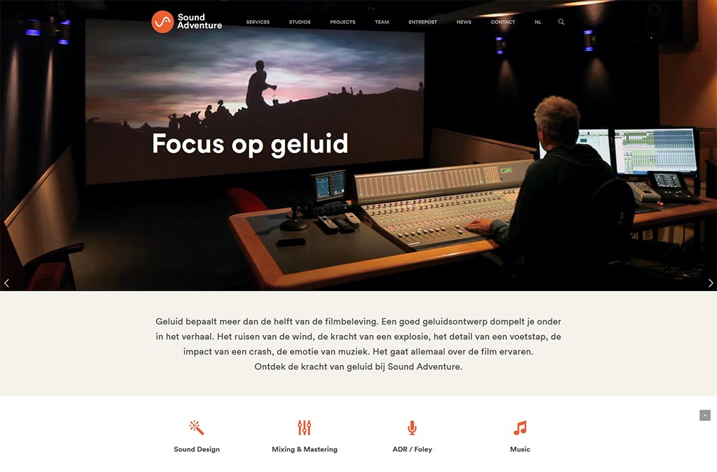Sound Adventure, website redesign, 2015