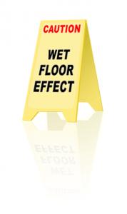 Wet floor effect